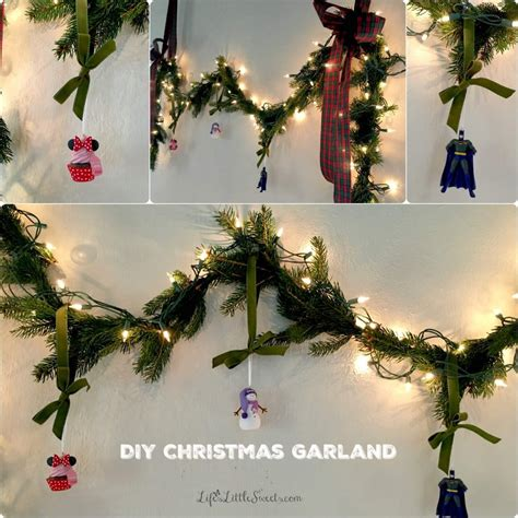 diy christmas garland greeting card table life s