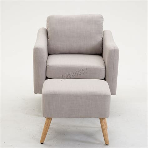 modern fabric armchair foxhunter modern fabric armchair lounge tub chair with foot stool russcarnahan