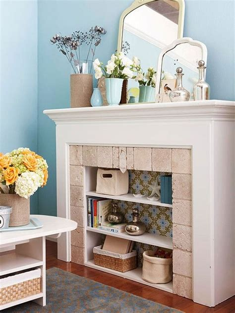 turn fireplace into bookshelf diy fireplace ideas thar are chic