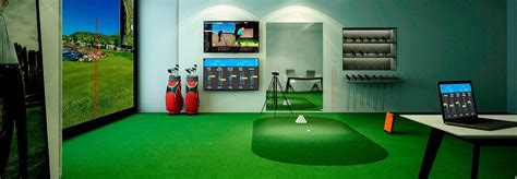 indoor golf simulator hd and full swing awesome indoor golf set gallery interior design ideas