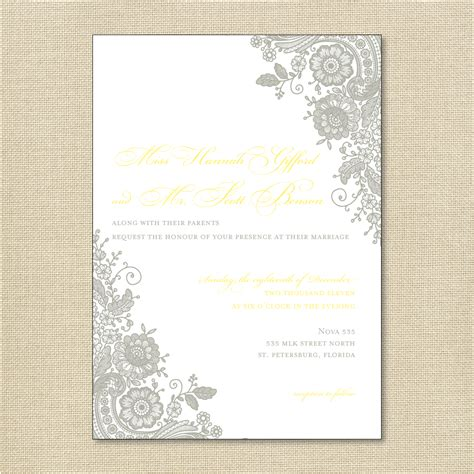 wedding invitation wording wedding invitation templates lace