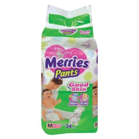 Popok Bayi Merries Skin M 34 1 Box detil produk merries skin m 34 l 30 xl 26