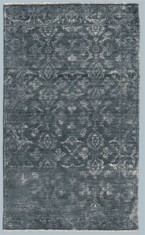 tappeti moderni bergamo tappeto bhadohi con raffinato motivo floreale grigio