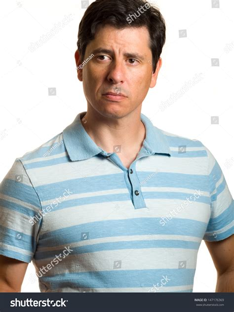 middle aged pics of guys with reddish brown hair confident caucasian middle aged man blue stock photo