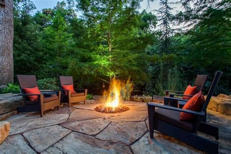 gas pit with adirondack chairs adirondack rocking chair cushions woodworking projects