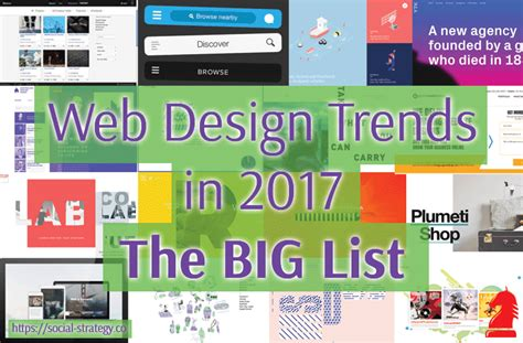 new web design trends 2017 web design trends in 2017 the big list social strategy