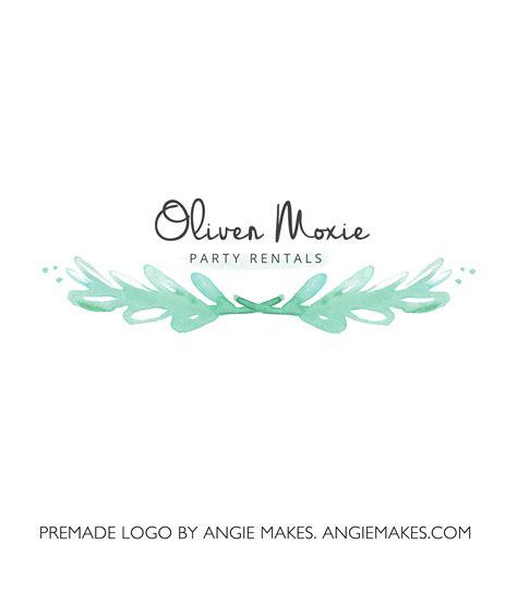 watercolor laurel logo