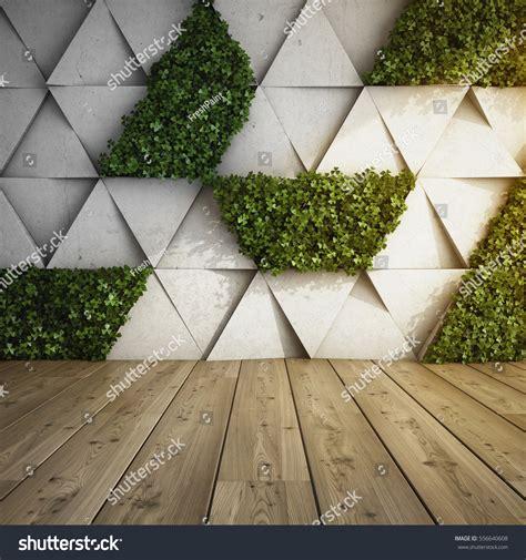 wall modern interior concrete blocks vertical stock