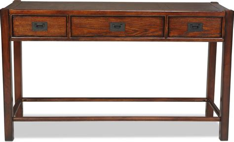 Sumpter Sofa Table Distressed Chestnut Levin Furniture Distressed Sofa Tables