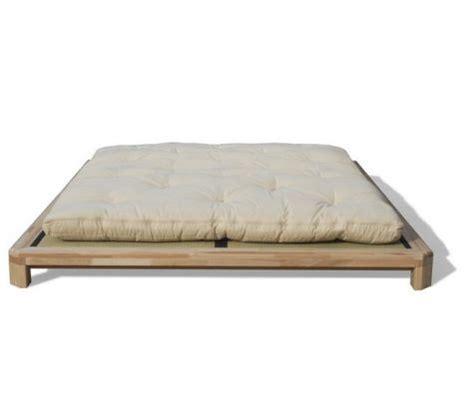 cadre de lit japonais lit japonais bois massif doji haut