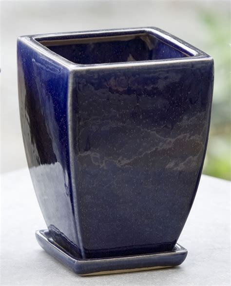 cobalt blue planters terrace tabletop planters 10 handpicked ideas to discover in home decor herb pots cobalt