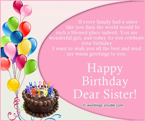Younger Birthday Cards Sister Birthday Messages Sisters Are A Best Friend When