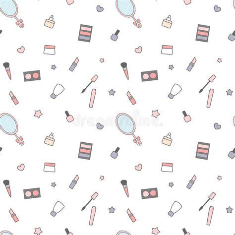 makeup cartoon wallpaper download cute cartoon beauty mix seamless pattern