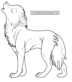 howling wolf template by sasoridanna94 on deviantart