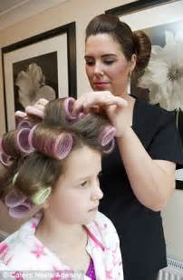 boy are taken to beauty salon for girly hair and makeup the per parties aimed at primary school children