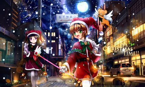 hd anime christmas wallpaper christmas time in the city by kanade chizuru on deviantart