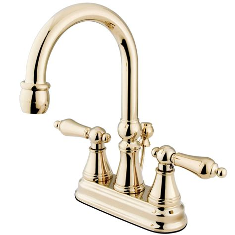 kingston bathroom faucets kingston brass ks2612al 4 quot centerset lavatory faucet with