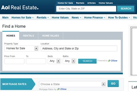 Zillow Search By Address Zillow Powering For Sale And For Rent Listings On Aol Real