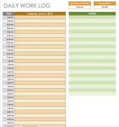 Daily Work Log Template by Free Daily Schedule Templates For Excel Smartsheet