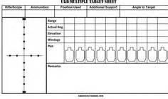 sniper data card template sniper log book pdf rifle data book pdf book covers