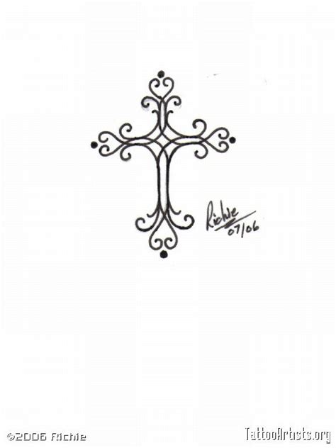 small simple cross tattoos feminine cross designs pin feminine cross