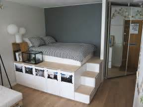Diy Platform Bed With Steps Storage Platform Bed Oh Yes