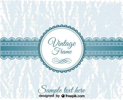 imagenes vintage azul marco circular azul de cord 243 n vintage descargar vectores