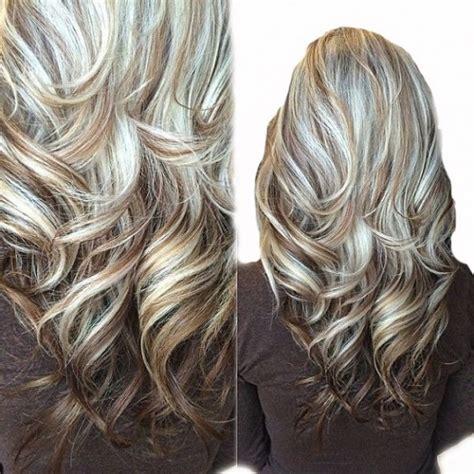 photos of brunette with platinum blonde highlights highlight fusion 6 60 chestnut brown platinum blonde