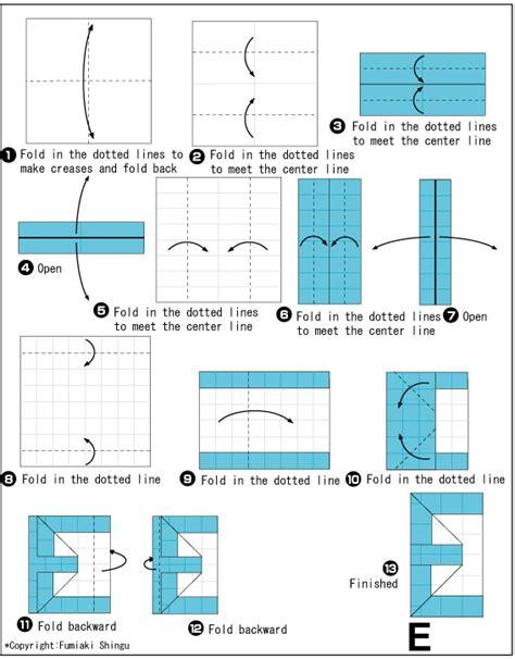 Origami Letter E - origami alphabet e