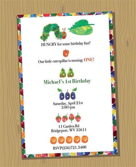 Invitation Templates Hungry Caterpillar Invitations Free Printable Invitations Invitation Hungry Caterpillar Invitation Template
