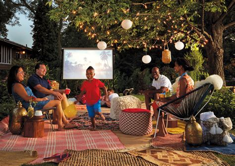 backyard movie night backyard movie night midwest home magazine