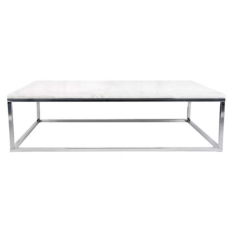 chrome coffee table prairie wht chrome marble coffee table by temahome eurway