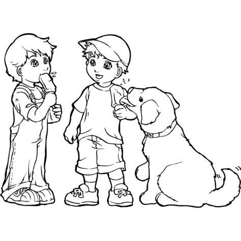 disegni bambini disegno di bimbi col gelato da colorare per bambini