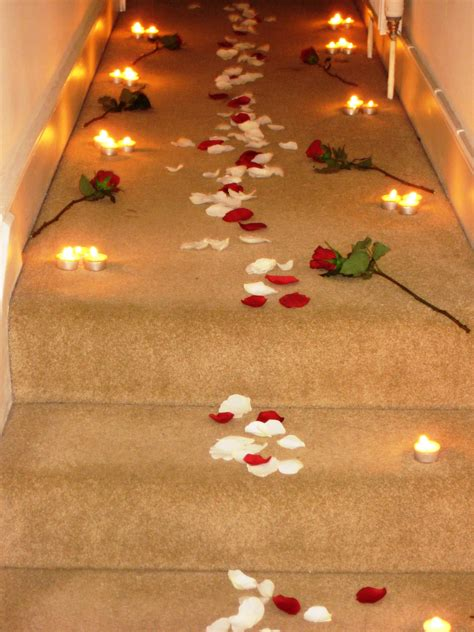romantic decorations romantic candles and roses bedroom a rose petal path romantic pinterest romantic