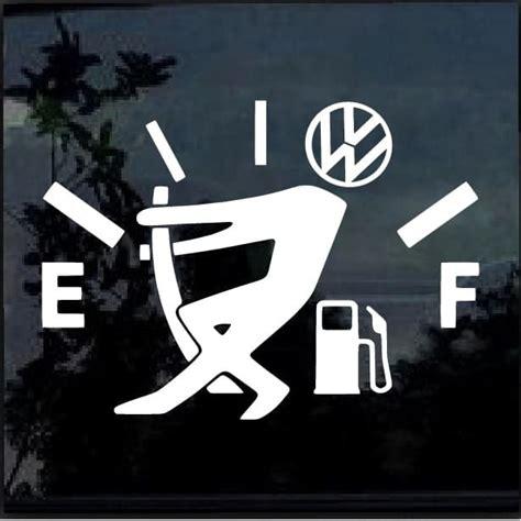 Vw Funny Sticker by Car Decals Vw Volkswagen Funny Gas Gauge Sticker