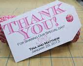 Wording For Wedding Favors by Items Similar To Wedding Favor Tag Gift Tag Thank You