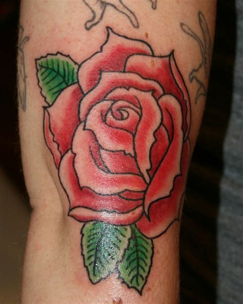 traditional rose tattoos ghost house traditional