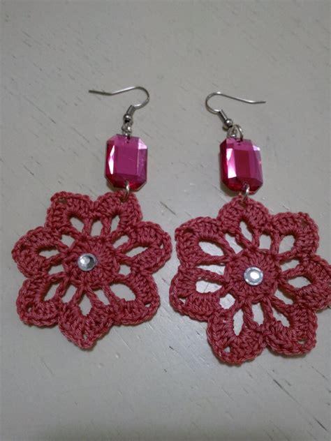 orecchini uncinetto fiore orecchini a fiore all uncinetto gioielli orecchini