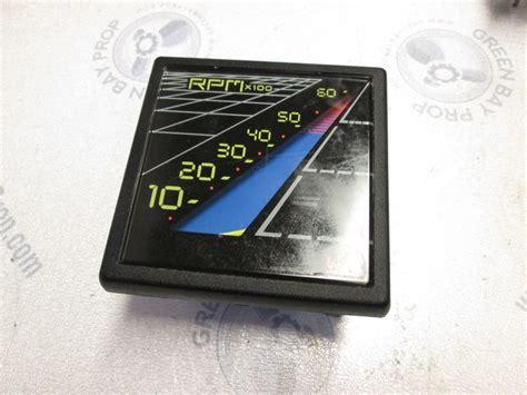 boat gauges square 1980s bayliner capri square tachometer rpm gauge faria