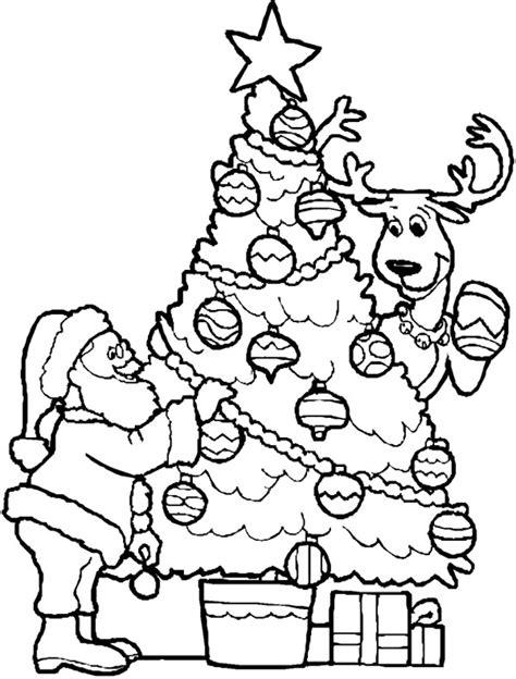 christmas tree santa coloring coloring point