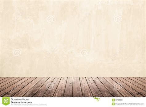 Empty Room Of Grunge Wall And Wooden Floor Stock Image
