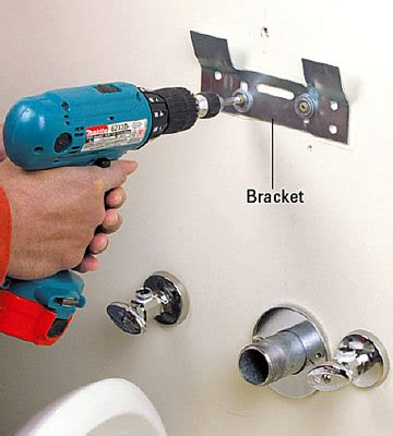 pedestal sink mounting bracket install a pedestal sink wall mount bracket the baths