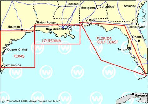 map of gulf coast states gulf coast surfer en gulf coast united states of