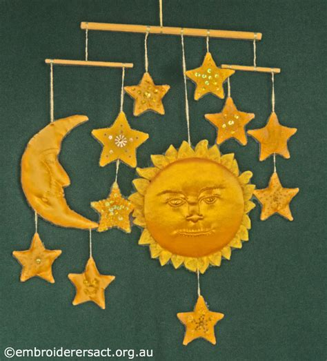 sun for mobile sun moon and mobile by lorna loveland embroiderers
