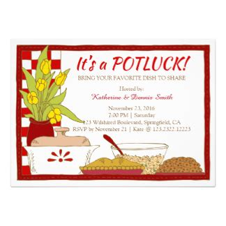 potluck menu template potluck invitations invites zazzle