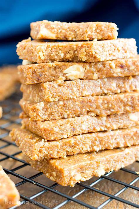 healthy vegan energy bars recipe 4 ingredient no bake peanut butter cookie energy bars