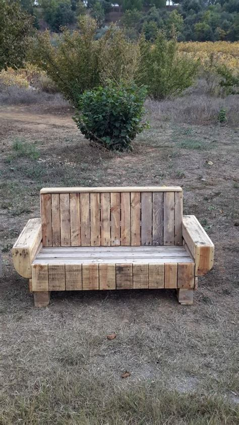 diy pallet outdoor rustic bench pallet furniture diy 14 diy pallet benches for indoors and outdoors shelterness