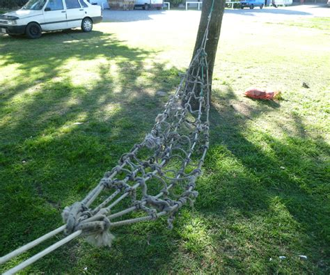 Tying A Hammock To A Tree - scrap rope hammock