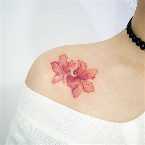 tattoo flower seoul korean rosebay by tattoist doy body is a temple