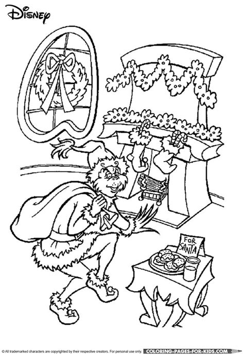 coloring page grinch disney christmas coloring page the grinch christmas